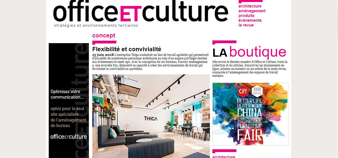 thiga office et culture